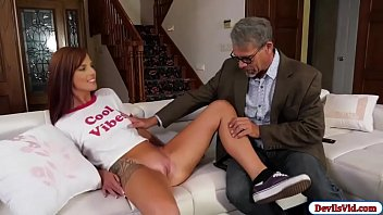 Scarlett Mae seduces gramps old friend