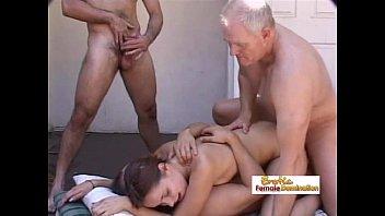 Viagra helps mens enjoy deep penetration - Tiny tit brunette babe enjoying some deep hardcore double penetration