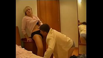 Stepson mother seek after bathing