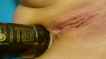 Xxx girl sitting on bottle - Bottle up my ass
