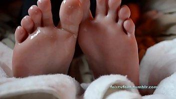 Slippery feet.