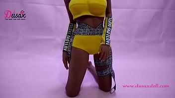 165cm (5ft5inch) soft skin cheap adult sex dolls,Black Sex Doll-Kelly