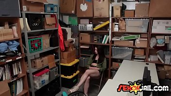 Security guard banging brunette thief-2