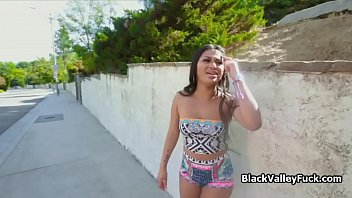 Ebony teen picked up and fucked on leaked sex tape thumbnail