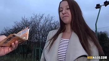 Amateur chick Mishelle Klein fucks a stranger for some cash