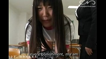 Cute japanese teen spanked by her teacher