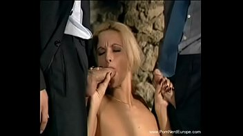 Double Cock Threesome For German Blonde