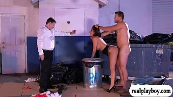 Lusty waitress screwed at the dump area