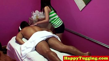 Real korean masseuse in tug job session