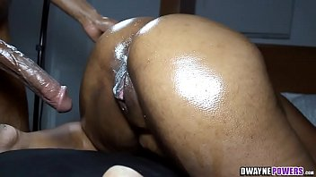 Shiny wet ass Wet doggystyle ebony