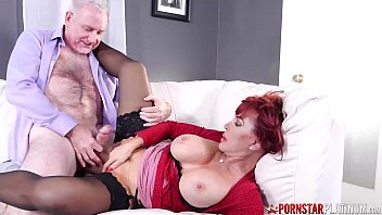 PORNSTARPLATINUM Redhead Sexy Vanessa Smashed By Old Big Cock