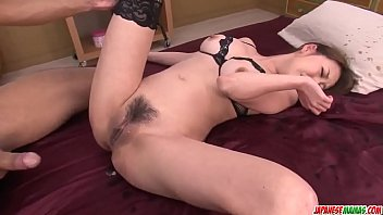 Akari Asagiri gets cock in the butt hole during harsh anal  - More at Japanesemamas com