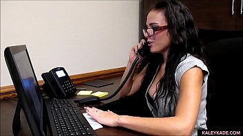 Customer Service Rep Gets Horny in Office
