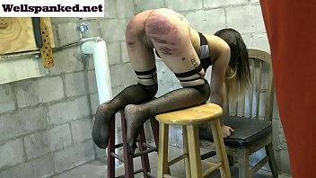 Alasandra's Punishment Room Caning Starring Alasandra