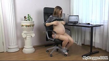 Naked pregnant video Stripping naked and fingering her wet pussy