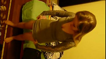 Sexy bojpuri forum Young polish blonde teen girl putting on her pantyhose and dress, dressing up