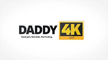 DADDY4K. Mature dad receives blowjob and fucks teen shaved pussy