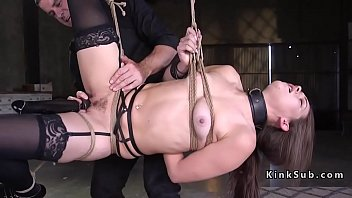 Bondage story wlking in woods - Two masters anal fucking two babes