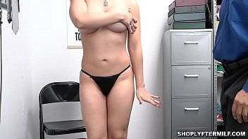 Security officer fucking one hot blonde milf from below