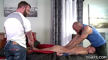Muscular gay trio
