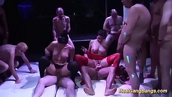 cute Salma de Nora in a real gangbang orgy