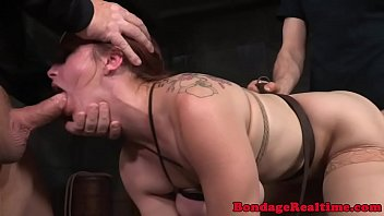 Redhead slave tiedup and anally spitroasted