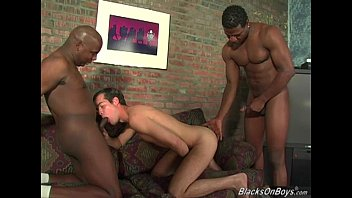 Gay porn black and white men - Hung black men sharing the ass of an amateur guy
