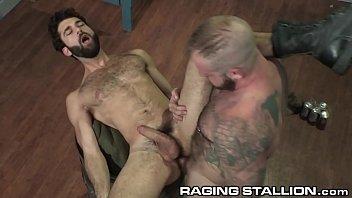 RagingStallion Big Dick Muscle Bear Fucks Hot Hairy Stranger