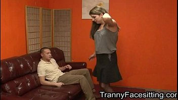 Domination shemale - Tranny dominates straight guy and makes him suck