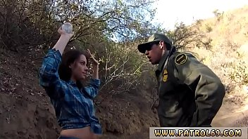Boarder patrol fuck Kayla West was caught lusty patrool during border