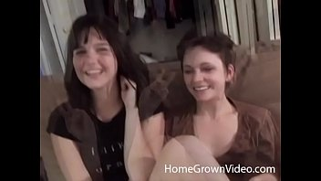 Hairy amateur lesbians fucking with a strapon
