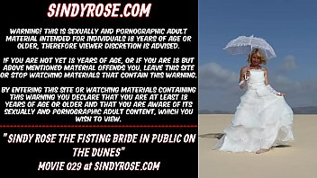 The ruins nude Sindy rose the fisting bride in public on the dunes