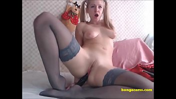 Cute blonde masturbates in her webcam solo