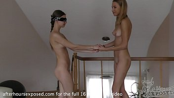 Girls fuck eachother with dildos - 19yo amanda blindfolds ieva and fucks her hard with a double ended dildo