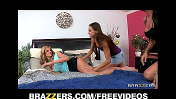 Two hot &amp_ mean brunettes initiate their blond bombshell roommate
