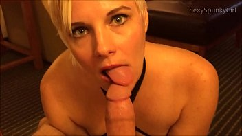 Sexy couga - Oops wrong hotel room hot blonde fucks sucks a stranger