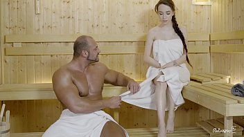 Forced sex sauna videos - Relaxxxed - hard fuck at the sauna with attractive russian babe angel rush