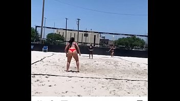 Volleyball as in action