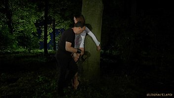 Nataly Tied In The Forest At Night And Fucked