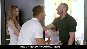 DaughterSwap - Teens Fucking Each Others Horny Dad