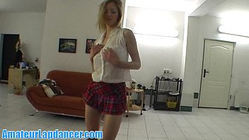 Czech blonde with amazing body lapdances
