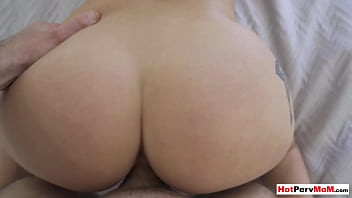 Chubby MILF stepmom Macey Jade stripping to seduce and fuck her stepson
