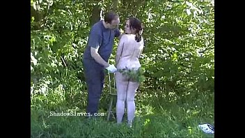 Nettles bondage Outdoor nettles bdsm and bbw slave girls garden bondage and stinging punishment