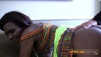 Hot Ebony Babe Rimming On Casting Tape