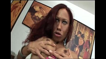Two big cocks for a horny transsexual