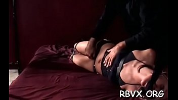 Totaly free amature porn Horny wench gets stimulated while being totaly bounded up