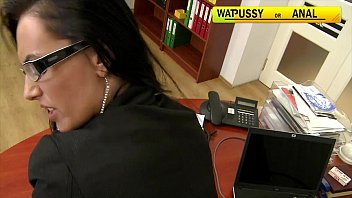 Interactive tits Mela fucked hard in the office