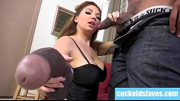 Black monster cock worship by white slut wife