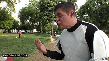 STAR WARS LOVING TEEN EATS ASS & GETS A CREAMPIE!