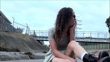 Naughty Teen Masturbating In Public